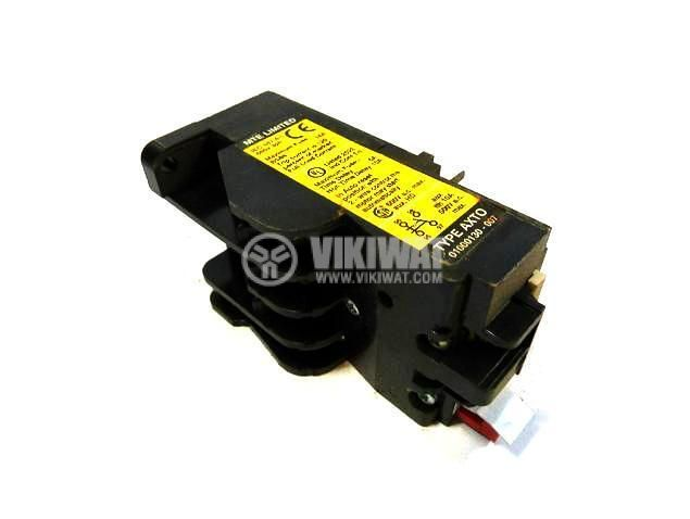 Thermal relay, MTE AXT0, three-phase, 1.6-2.4 A, 2PST - NO+NC, 6 A, 380 VAC - 4