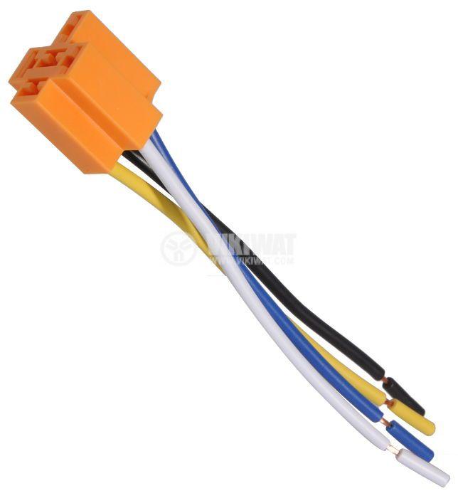 Цокъл за реле AS403 (AS402), 12 VDC, 40 А, 4pin, с изводи проводници - 1