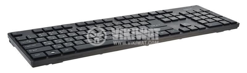 Keyboard DELUX K1200, Ultra slim, 14 multimedia hotkeys, USB - 2