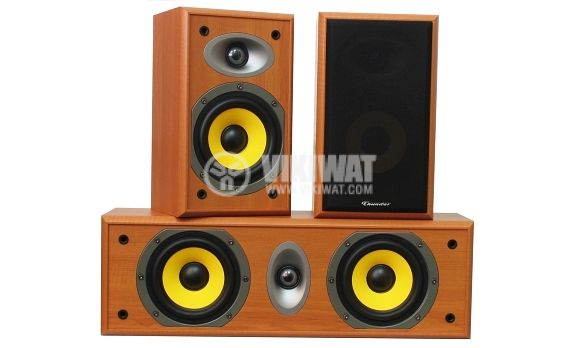 Speakers, Hi-Fi Home Surround System, THS-8502 S/C, 20-60W, 6Ohm,  87dB, wood