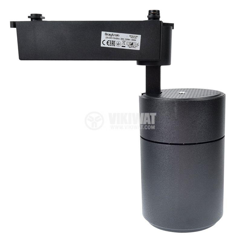 LED track light SHOPLINE-C, 30W, 220-240VAC, 3000K, black, BD30-01301 - 4