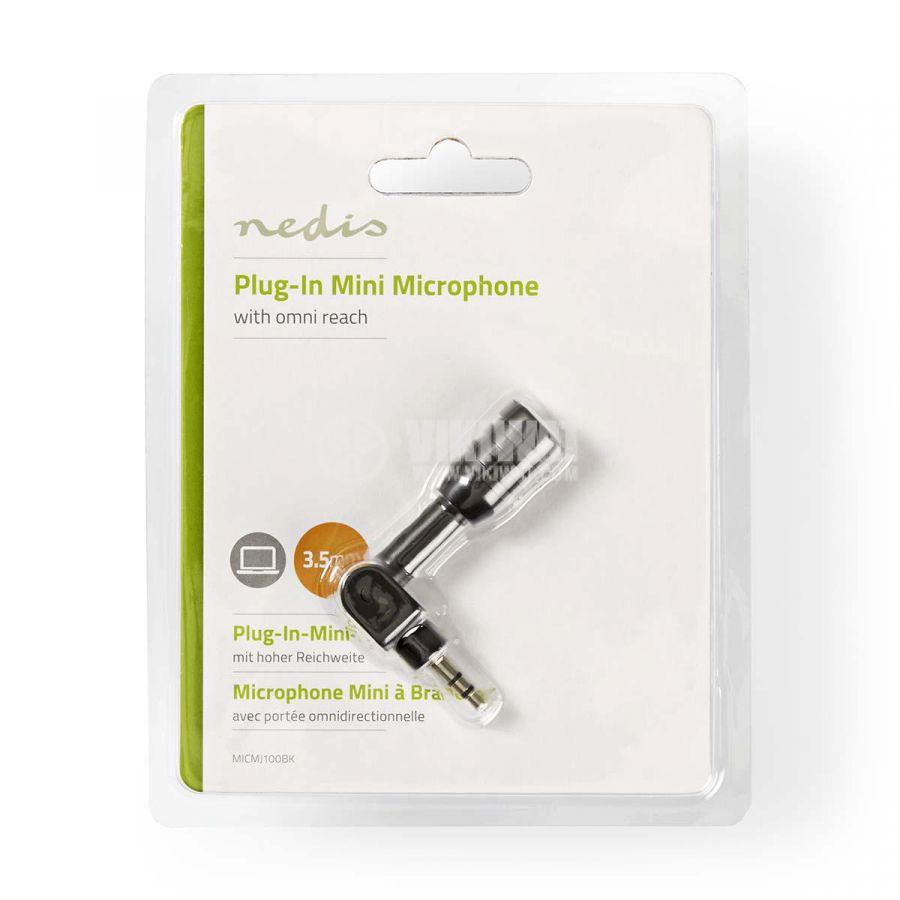 Микрофон MICMJ100BK, миниатюрен, 3.5mm - 7