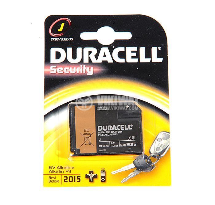 Батерия 4LR61, 6V, алкална, DURACELL