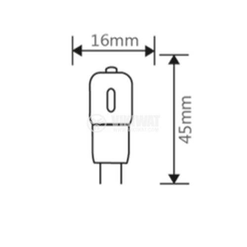 LED лампа 3W, G4, 220VAC, 220lm, 3000K, топлобяла, BA29-00340 - 2