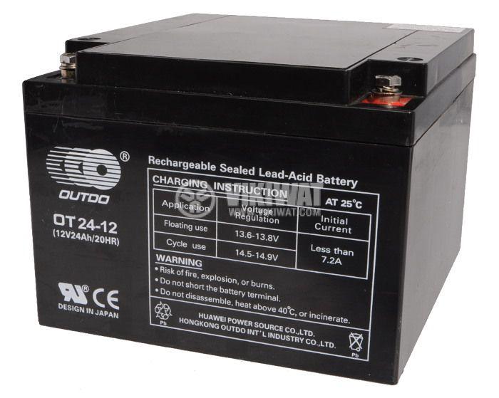 Sealed Lead Acid Battery 12V 24Ah OT24-12 with gel - 1