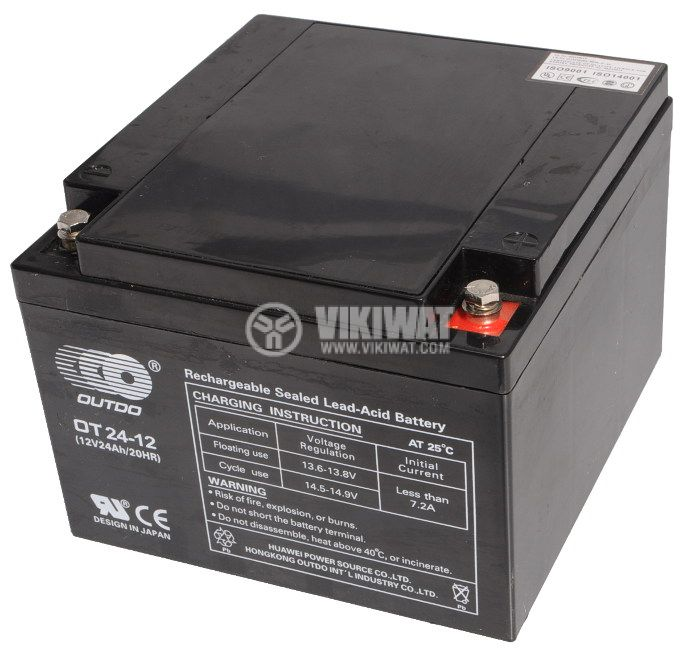lead acid rechargeable battery outdo 12 v 24 ah ot 24 12. Black Bedroom Furniture Sets. Home Design Ideas