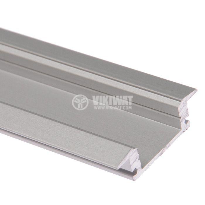 Aluminium profile for LED strip, narrow, for incorporation - 1