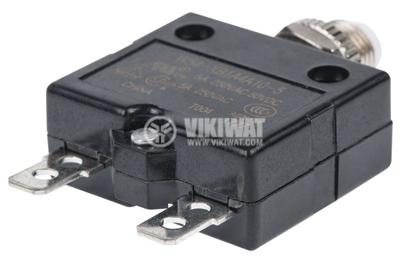 Resettable Thermal Circuit Breaker , W54-XB1A4A10-5, 5 A , 250 VAC - 3