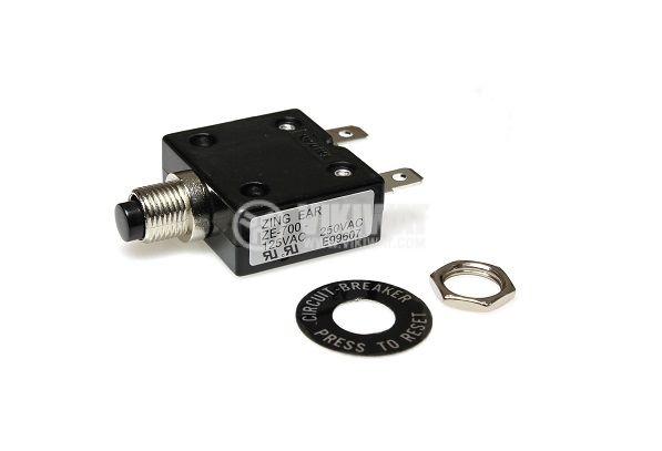 Токова защита, еднополюсна, ZE-700-12, 12 A , 250 VAC - 1