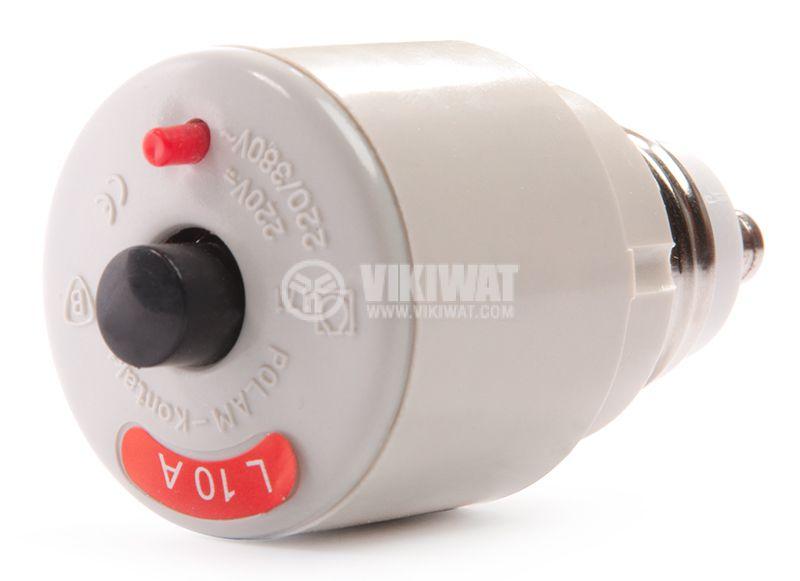 Miniature circuit breaker 1x10A L10A curve C E27 - 1