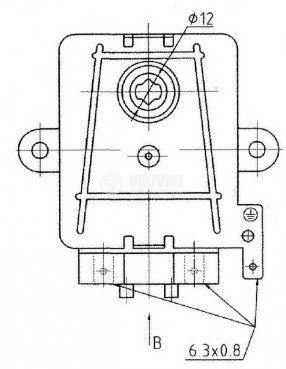 Електромотор с редуктор KX-B 240VAC/50Hz 6W клас H T125 1.8-2.2 rmp - 4