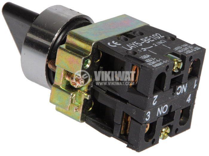 Бутон LAY5-BJ45 400VAC/10A 2PDT - NО+NC черен незадържащ - 3