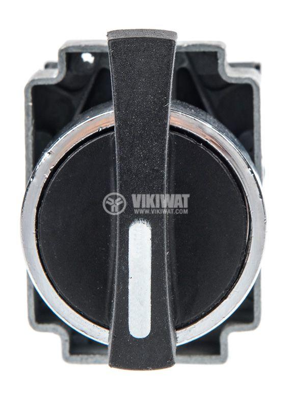 Панелен превключвател, бутон, ф22mm, 10A/240VAC, 3 позиции, SPST - 4