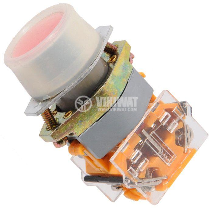 Бутон LAY8-02SR 400VAC/10A 2PDT-NО+NC червен - 1