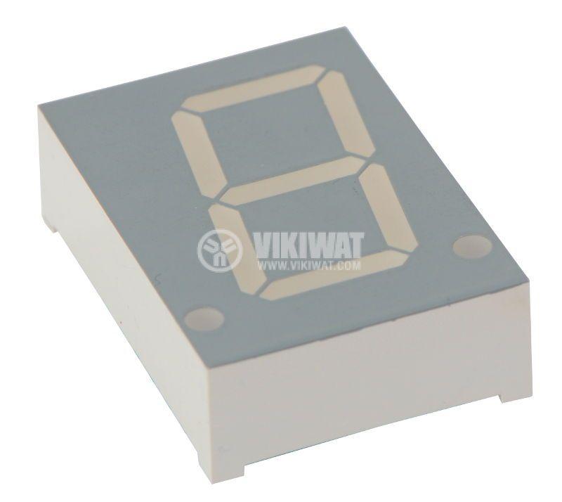 LED дисплей, 7-сегментен индикатор, червен,  21 х 11 mm - 1
