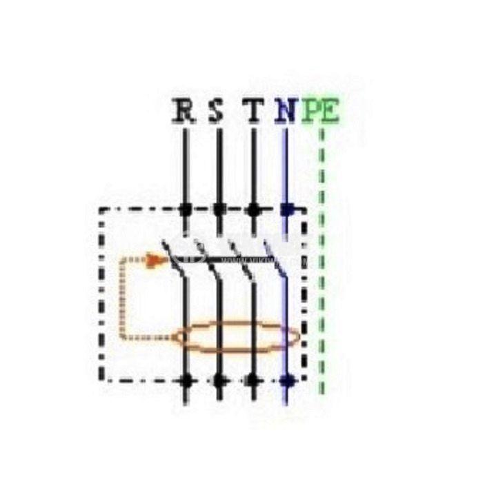 Четириполюсна дефектнотокова защита трифазна 3P+N F364, 40 A, 30 mA - 6