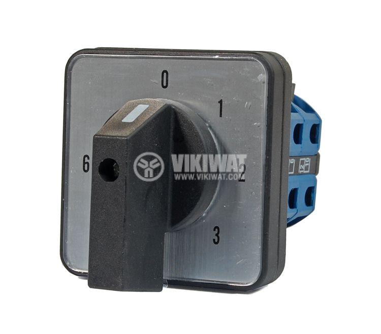 Rotary Cam Switch LW26-25/H5881/3 M2 I, 0-1-2-3-4-5-6, 380 VAC, 25 A - 1