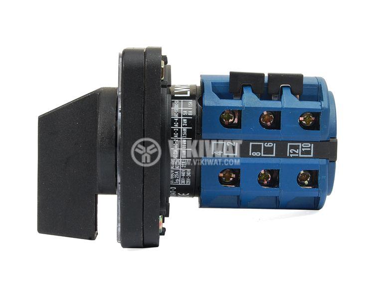 Rotary Cam Switch LW26-25/H5881/3 M2 I, 0-1-2-3-4-5-6, 380 VAC, 25 A - 2
