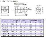 Пакетен електрически прекъсвач (ПЕП) LW26S-25 M1 C11S1,1-0-2, 220/380 VAC, 25 A  - 4