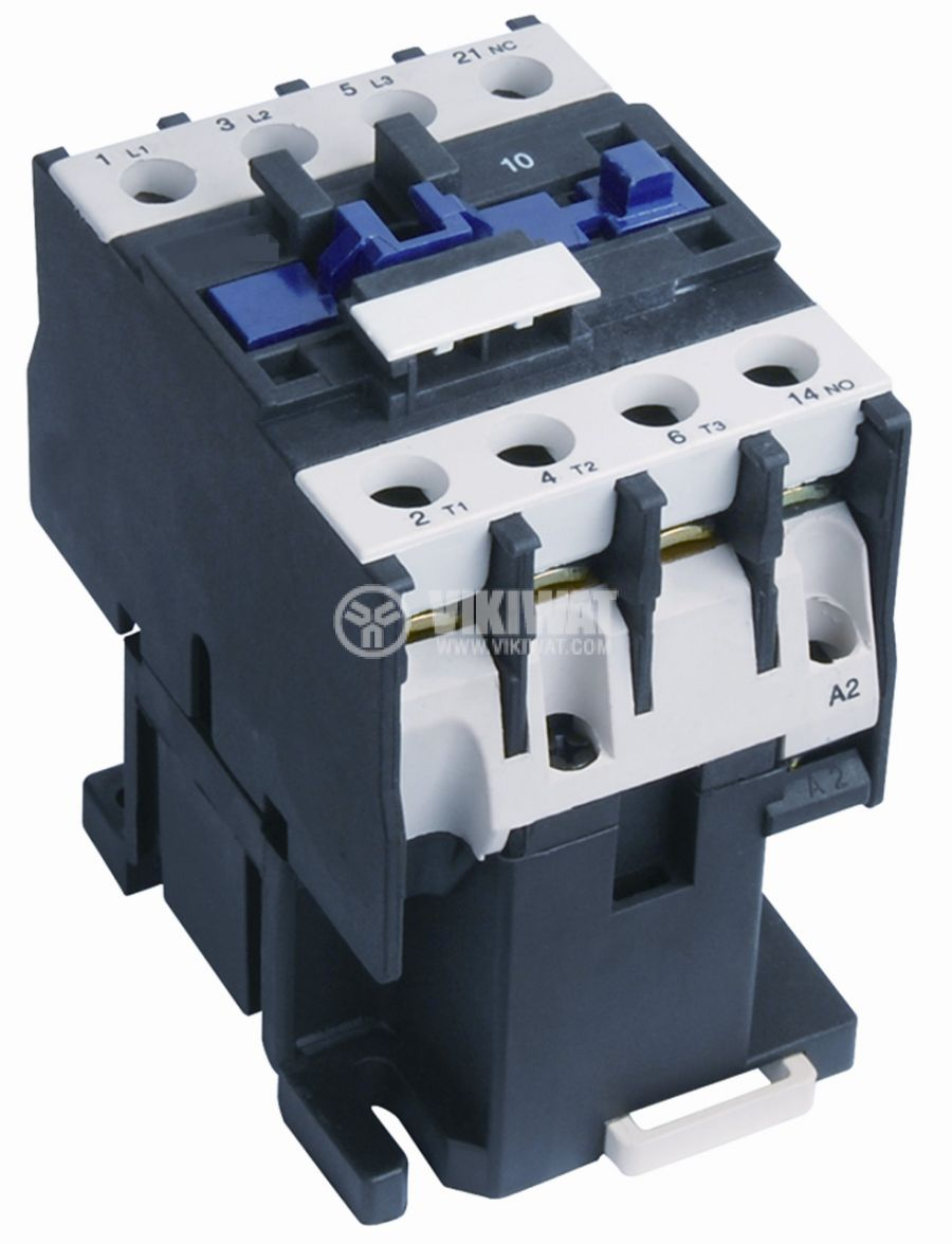 Contactor, three-phase, coil 24VAC, 3PST - 3NO, 12A, CJX2-D12, NO - 1