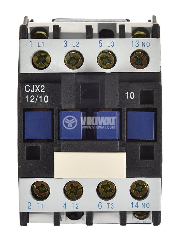 Контактор, трифазен, бобина 48VАC, 3PST - 3NO, 12A, CJX2-D12, NO - 2