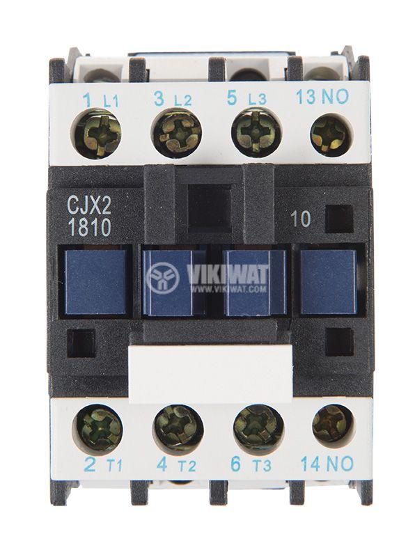 Контактор, трифазен, бобина 24VАC, 3PST - 3NO, 18A, CJX2-D18, NO   - 6