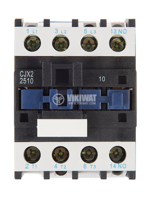 Контактор, трифазен, бобина 24VАC, 3PST - 3NO, 25A, CJX2-D25, NO   - 6