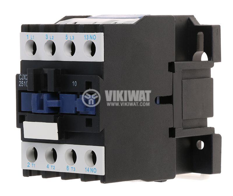 Контактор, трифазен, бобина 380VАC, 3PST - 3NO, 25A, CJX2-D25, NO - 1