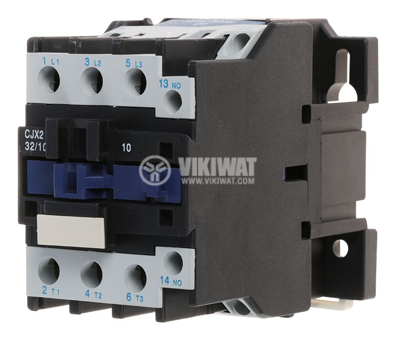 Контактор, трифазен, бобина 380VАC, 3PST - 3NO, 32A, CJX2-D32, NO - 1