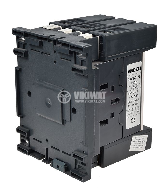 Contactor, three-phase, coil 380VAC, 3PST - 3NO, 150A, CJX2-D150 - 6
