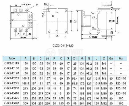 Контактор с бобина 220V 3PST-3NO 115A - 5