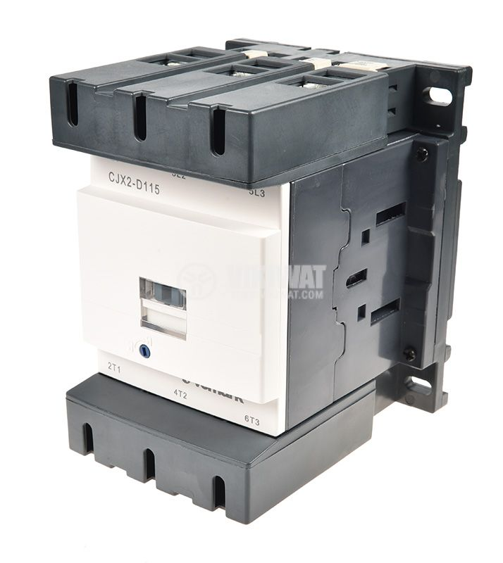Contactor, three-phase, coil 220VAC, 3PST - 3NO, 115A, CJX2-D115 - 1