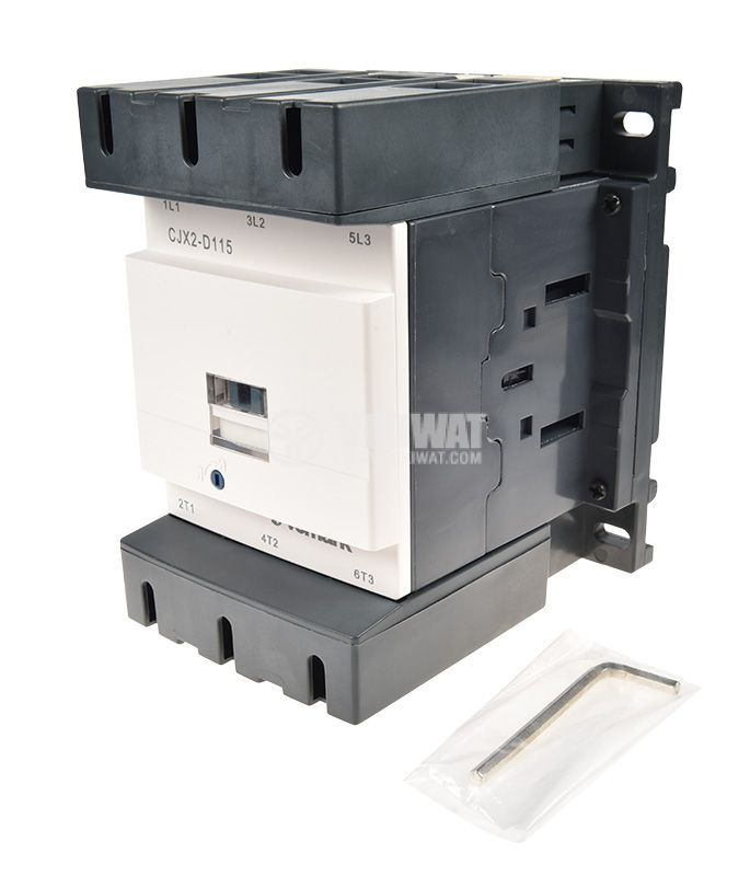 Contactor, three-phase, coil 220VAC, 3PST - 3NO, 115A, CJX2-D115 - 4