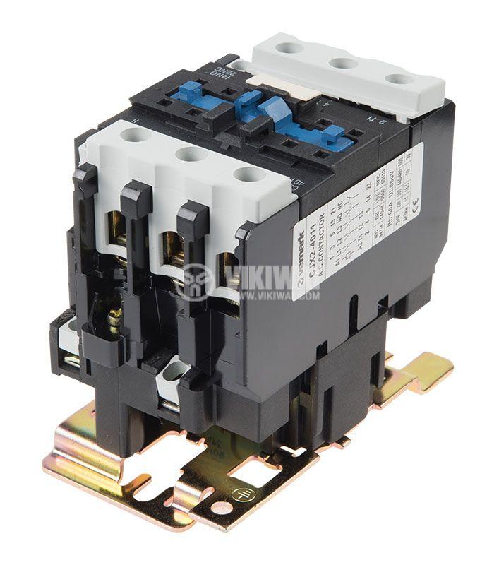 Contactor, three-phase, coil 24VAC, 3PST - 3NO, 40A, CJX2-4011, NO+NC   - 3