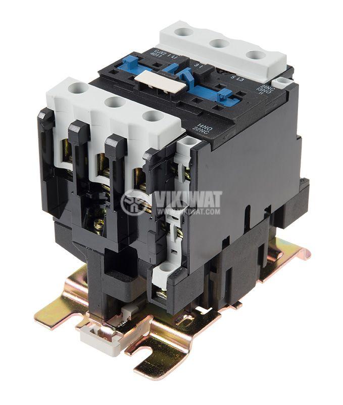 Contactor, three-phase, coil 24VAC, 3PST - 3NO, 40A, CJX2-4011, NO+NC   - 4