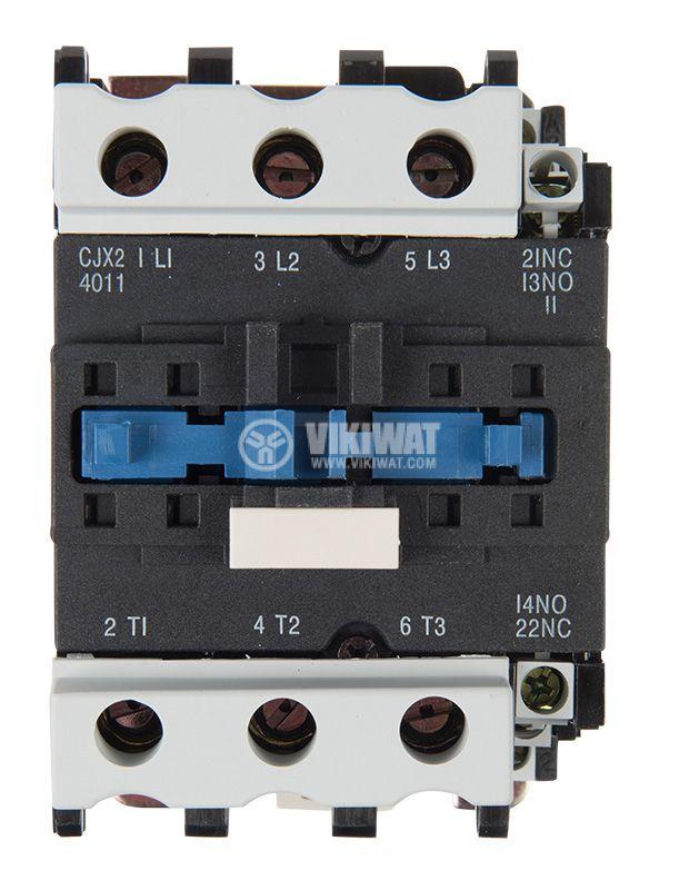 Contactor, three-phase, coil 24VAC, 3PST - 3NO, 40A, CJX2-4011, NO+NC   - 6