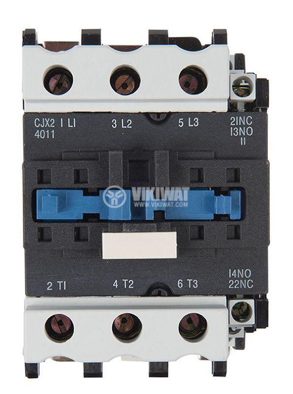 Контактор, трифазен, бобина 36VАC, 3PST - 3NO, 40A, CJX2-4011, NO+NC   - 6