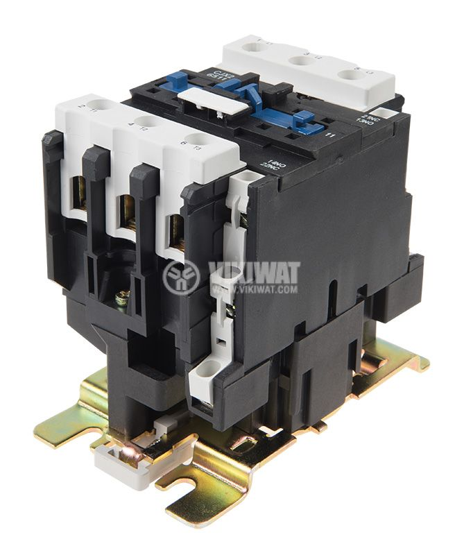 Contactor, three-phase, coil 24VAC, 3PST - 3NO, 63A, CJX2-6511, NO+NC   - 4