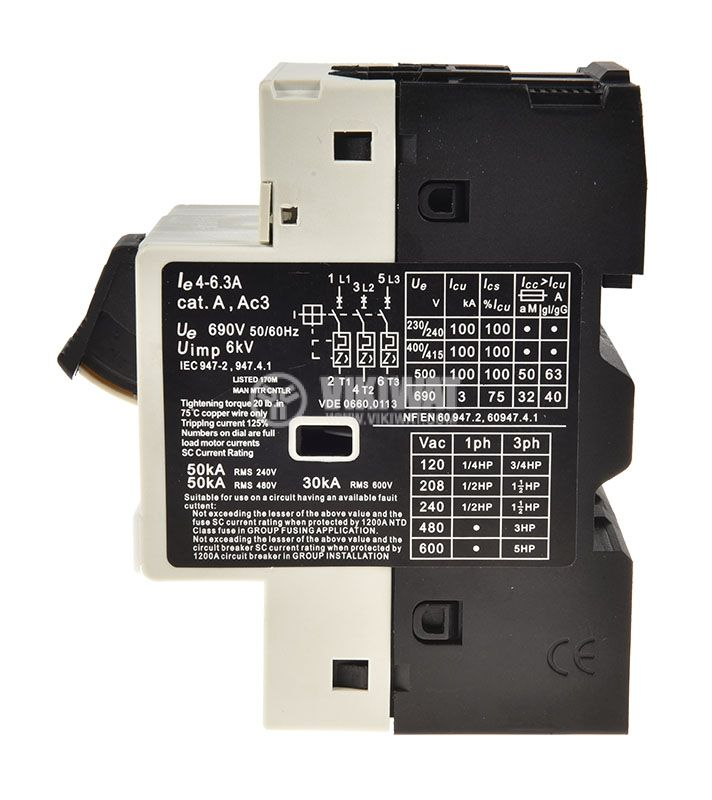 Motor protection circuit breaker GV2-М10, three-phase, 4-6.3 A - 2