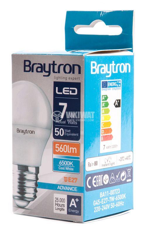 LED лампа BA11-00723, 7W, 220-240 VAC, E27, студенобяла - 4