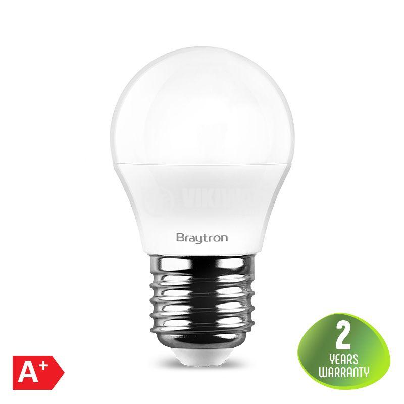 LED лампа 7W, 220VAC, G45, E27, 560lm, студено бяла, мини сфера, BA11-00723 - 1