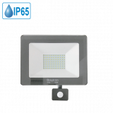 LED floodlight with sensor 50W, 220VAC, 4000lm, 6500K, cool white, IP44, waterproof, SLIM, BT60-25032