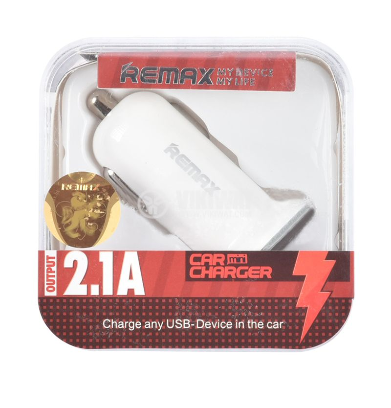 Car charger 12 / 24VDC with USB outputs, 5V, 2.1A - 4