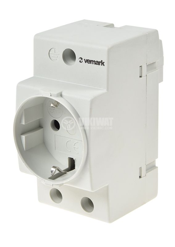 Power electrical socket for DIN rail 250VAC - 1