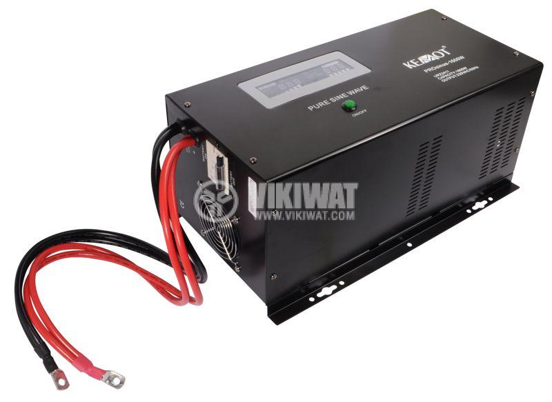 Инвертор със зарядно KEMOT URZ3411 PROsinus-1600 - 2