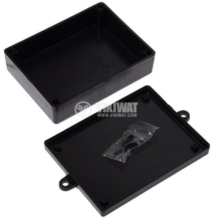 Кутия KM-38B ABS, черна, 100x132x39 - 2