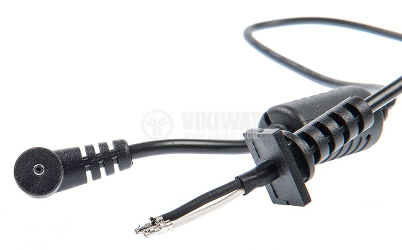 Power cable with laptop adapter tip, 2x0.7mm, 1m - 3