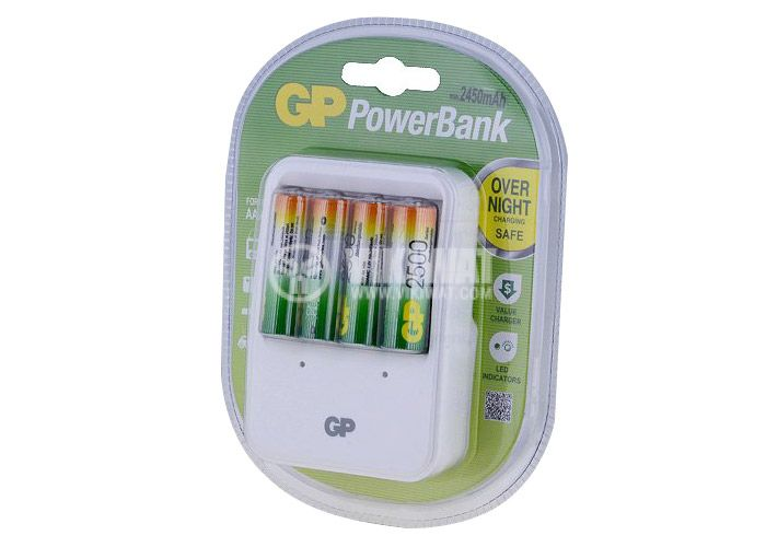 Switching charching device GP Power Bank PB420 for accumulator batteries GP Power Bank NiMH, AA/AAA size - 1