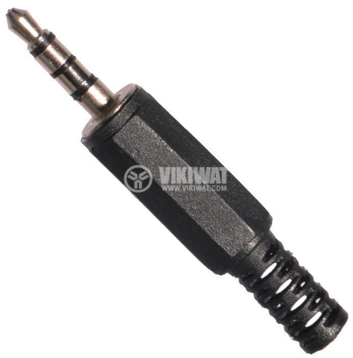 Connector, 3.5mm, 3 rings, M