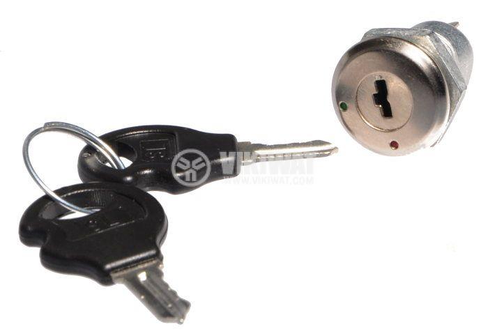 Превключвател с ключ, NO, SPST - 2